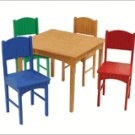 KidKraft Nantucket Honey Table 4 Primary Chairs KK26121