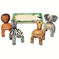 Anatex Safari able&Chairs Zebra,Elephant,Lion&Giraffe STA-7728 Multi