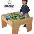 Kid Kraft  Train/Lego  Natural Finish 2 in 1 Activity Table KK17576