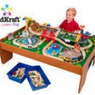 Kid Kraft Ride Around Town Train Set w/ Table  KK17836  Multi