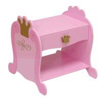 KidKraft Pink Princess Toddler Nightstand Table KK 76124