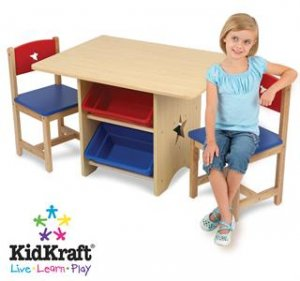 KidKraft  Star 5PC Storage Table &2 Chair Set KK26912 Multi