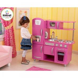 Kidkraft Personalized Bubblegum Vintage Kitchen 53220-PZ Pink