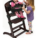 Badger Basket Wood Convertible Espresso High Chair 91800