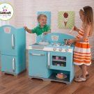 KidKraft 53286 Blue  Retro Kitchen and Refrigerator