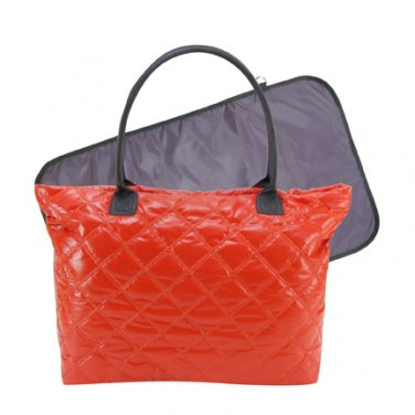 Trend Lab Baby Diaper Bag Orange and Gray Mod Tote#104308