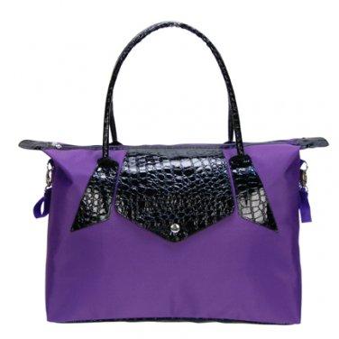 Trend Lab Baby Diaper Bag Royal Purple and Black Tote #104317 Multi