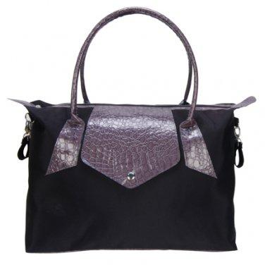 Trend  Lab Baby Diaper Bag Black and GrayRendezvous Tote#104318 Multi