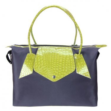 Trend Lab Baby Diaper Bag Gray and Lime Green Rendezvous  Tote #104320 Multi