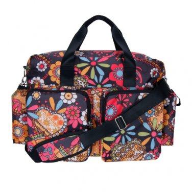Trend Lab Baby Bohemain Floral Deluxe Duffle Diaper Bag#104330 Multi