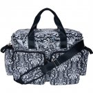 Trend Lab Baby Diaper Bag Midnight Fleur Damask Deluxe Duffle Bag #104329 Multi