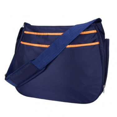 Trend Lab Baby Diaper Bag Navy Blue and Orange Ultimate HOBO  Bag #104602  Multi
