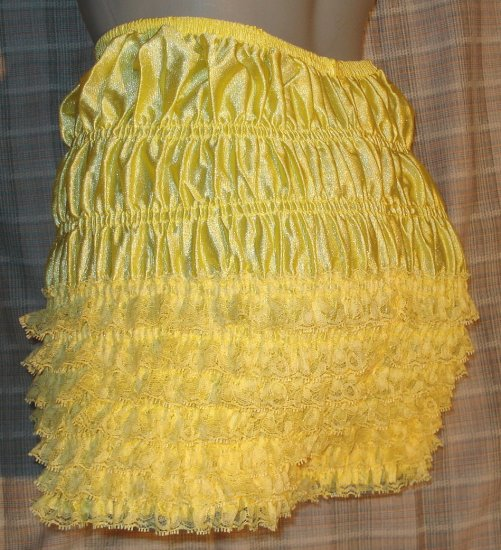 Yellow Bloomer rhumba panties size  Large waist-40 inch