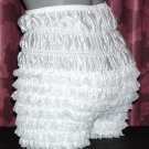 WHITE SISSY PANTIES FRILLY BLOOMERS PETTIPANTS w-40 IN
