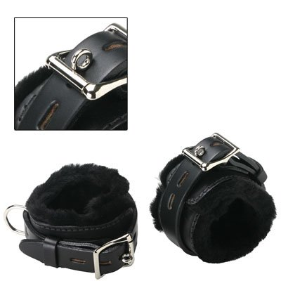 Strict Leather Fur Lined Wrist and Ankle Cuffs
