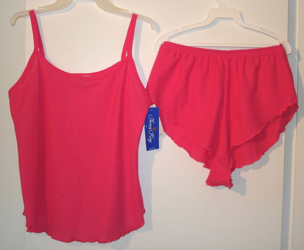 SEXY   Nancy King  2  PIECE NIGHT  WEAR  CAMISOLE PANTIES  nwt LARGE