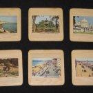 SET OF 6 VINTAGE COASTERS OF BRISTOL  ENGLAND 1950'S