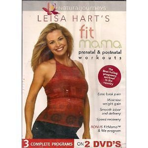 Leisa Hart's prenatal and post natal workouts dvd sealed new