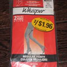VINTAGE WHISPER PANTYHOSE  REGULAR PANTY ONE SIZE
