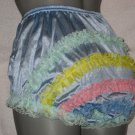 VINTAGE  STYLE LIGHT  BLUE CAN CAN RUFFLE PANTIES Med-lge-XL