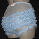 bL VINTAGES TYLE SHEER  SISSY CAN CAN CHIFFON RUFFLE PANTIES M-L-XL