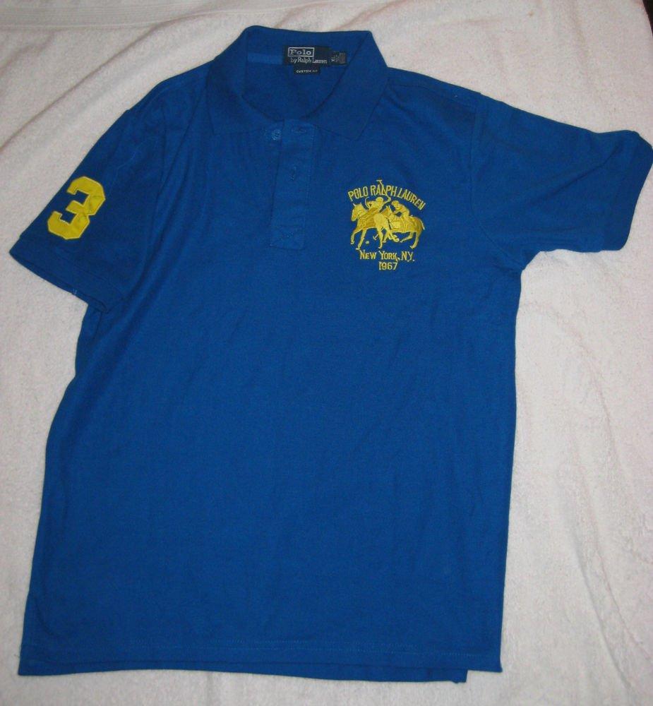 SHORT SLEEVE POLO GOLF SHIRT  BY RALPH LAUREN BLUE XL