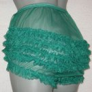 b VINTAGESTYLE SHEER  SISSY CAN CAN CHIFFON RUFFLE PANTIES M-L
