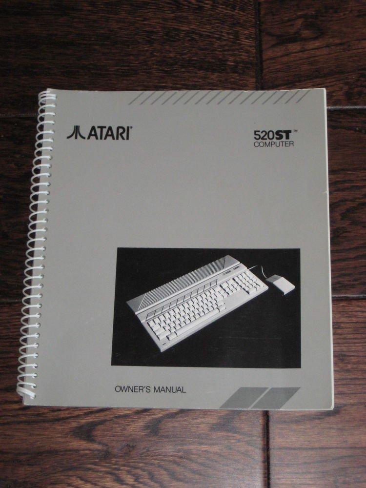 Lot of 2 Atari  manuals  guides  520ST  OWNERS MANUAL  and  VIP HANDBOOK