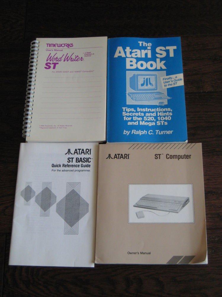 Lot of 4 Atari  manuals  guides