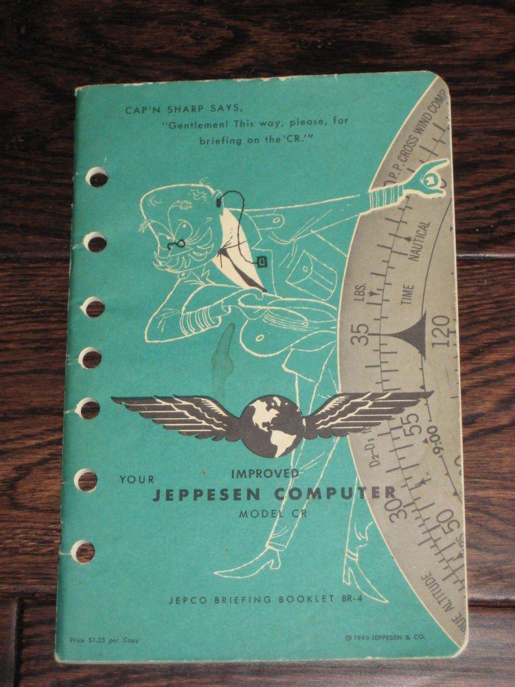 YOUR IMPROVED JEPPESEN COMPUTER MODEL CR  manual  1960 publication