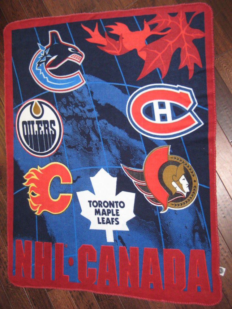 NHL CANADA  Blanket official NHL product  all teams  less winnipeg