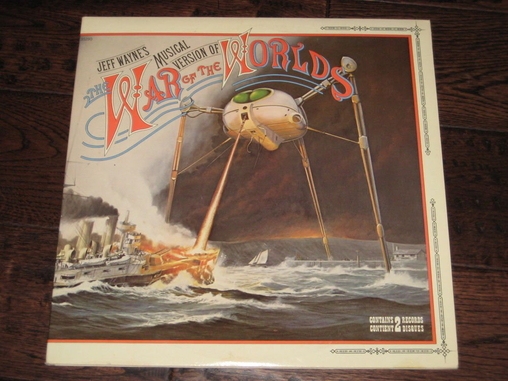 JEFF WAYNES MUSICAL VERSION OF  THE WAR OF THE WORLDS 1978  CBS