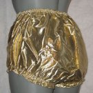 VINTAGE GOLD LAME PETTIPANTS SHEER PANTIES  WAIST-34 IN  U.S. MADE