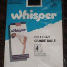 VINTAGE WHISPER   ALL SHEER  PANTYHOSE  QUEEN E SIZE  LEGS  BLACK