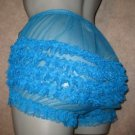 CS SHEER RUFFLE  FRILLY LACEY PEACOCK  SISSY CHIFFON  PANTIES M-and-XL