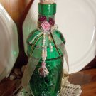 Altered, Jeweled Bottle with Tiny Bird on Nest