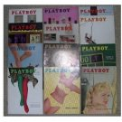 Playboy Magazines 1958 Complete Year