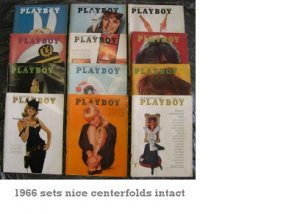 Playboy Magazines 1966 Complete Year