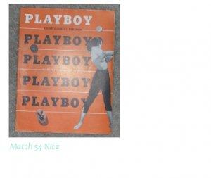 Playboy Magazines March 1954