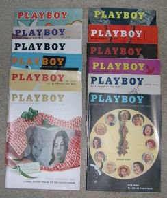 Playboy Magazines 1957 Complete Year