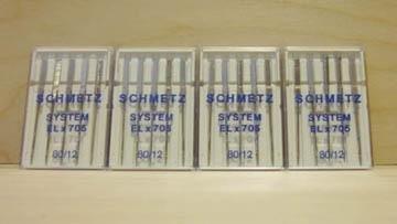 20 Schmetz System 80/12 Needles ELx705
