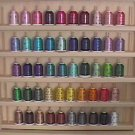 Robison-Anton Top 50 Colors Rayon Machine Embroidery Thread Set (50 mini king cones, 1000 meters)