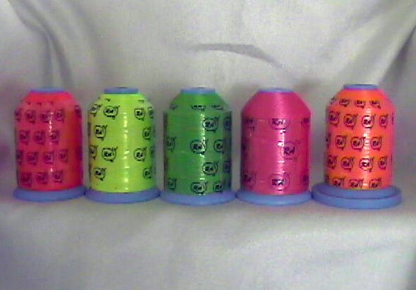 Robison-Anton Neon Polyester Machine Embroidery Thread Set (5 mini king cones, 1000 meters)