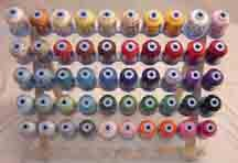 Robison-Anton Top 50 Colors Polyester Machine Embroidery Thread Set 50 mini king cones 1000 meters
