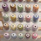 Robison-Anton Set of Variegated Rayon Machine Embroidery Thread Set (29 mini-king cones)
