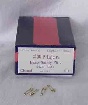 Brass Safety Pins - 10 gross