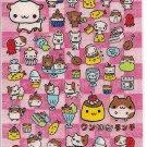 Preco Japan Hamsters and Bento Box Cars Sticker Sheet