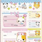 Q-Lia Animal Panda Clover Clinic Pharmacy and Hospital 6 Sticker Sheets Booklet