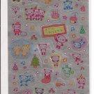 Japanese Kawaii San-X Metallic Pandas Christmas Stickers