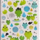 Mind Wave Frogs and Rain Sticker Sheet